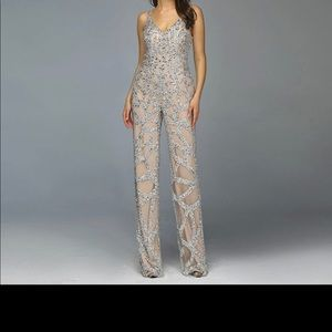 Silver Nude Jumpsuit Luxury